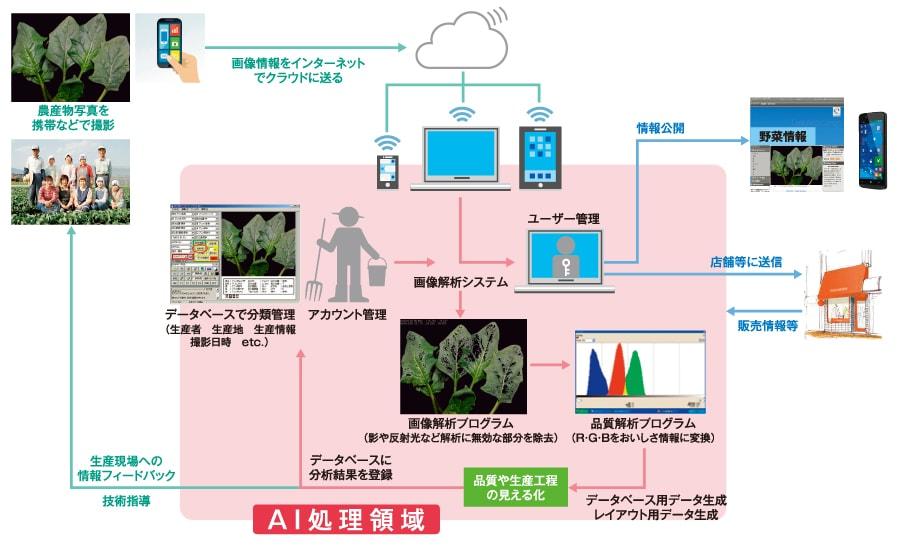 loT活用「おいしさの見える化」システム図